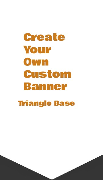 triangle base banner