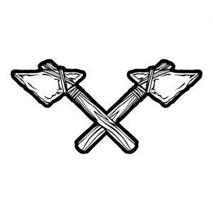 Tomahawk Mascot Banner