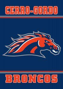 Bronco Mascot Banner