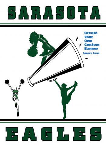 Cheer Custom Square Base Banner